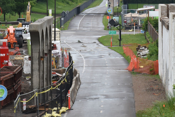 First Set of New Piers Complete at Portland Avenue Bridge