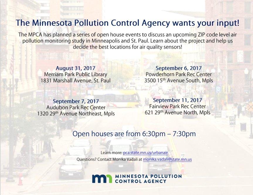 Air Quality Research inMinneapolis