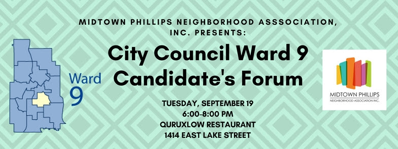 Candidate's Forum Next Tuesday, September19!
