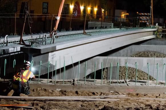 Bridge Beams to be Set on Portland Ave thisWeek