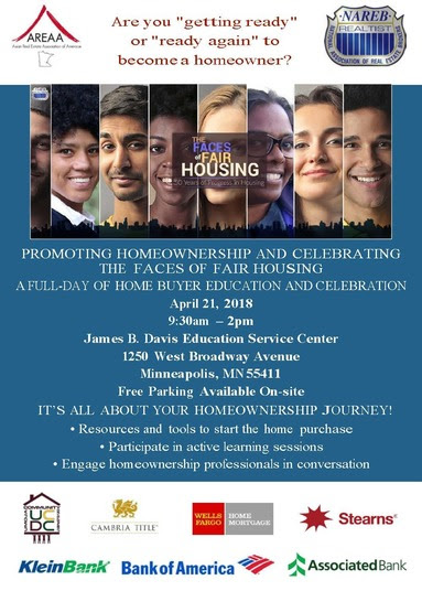 Minneapolis Homes at the 'Faces of Fair Housing' this Saturday!